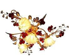 Fleur Pastorale Retro Chambre Lampe Salon
