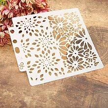 Fleur Réutilisable Modèles de peinture de