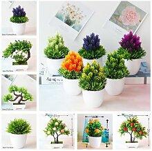 Fleurs artificielles + Vase, fausses plantes,
