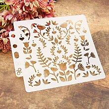 Fleurs&Herbe Réutilisable Modèles de peinture de