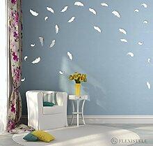 FLEXISTYLE Miroir décoratif en Forme de Plumes -