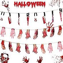 Floepx Décoration d'Halloween Horreur (A).