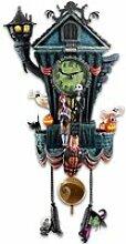 FLQHU Horloge murale Coucou L'Étrange Noël