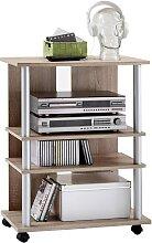 FMD Meuble TV/Hi-Fi avec 3 compartiments
