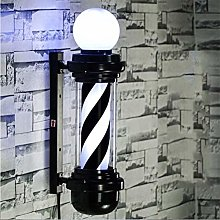 FMOGQ Barber Pole Traditionnel LED Rétro Rouge