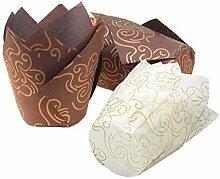 Fodlon Moulle Cupcake Papier Patisserie, Moulle a