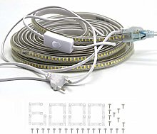 FOLGEMIR Ruban LED 1 m avec interrupteur, 230 V,