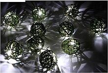 Fomax Guirlande à 10 Boules LED Blanches