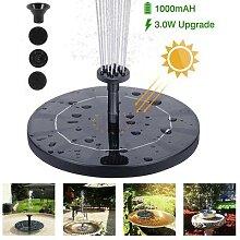 Fontaine à eau solaire flottante, décoration de