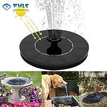 Fontaine à panneau solaire pour jardin,