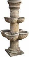 Fontaine avec 8 vasques en pierre, l90xpr90xh160 cm