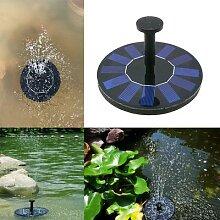 Fontaine avec pompe à eau flottante, panneau
