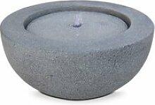 Fontaine bol  pierre naturelle gris