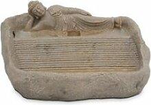 Fontaine bouddha couché  pierre naturelle gris