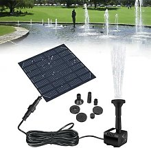 Fontaine d'eau à panneau solaire, piscine,