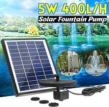 Fontaine d'eau solaire 400l/H, panneau solaire
