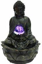 Fontaine d'intérieur bouddha méditation en