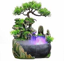 Fontaine d'intérieur de relaxation, cascade,