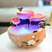 Fontaine d'intérieur Multicolore Oiseau et