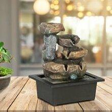 Fontaine d'intérieur zen aspect pierre avec