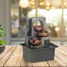 Fontaine d'intérieur zen avec led