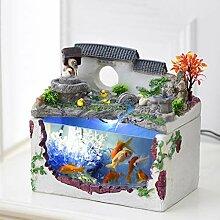 Fontaine de bureau Fish Bowl Aquarium et Tabletop