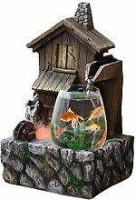 Fontaine de bureau Transparent Fish Tank et
