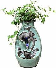 Fontaine De Bureau Vase en céramique Poissons