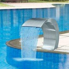Fontaine de cascade en acier inoxydable, fontaine