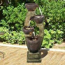 Fontaine de jardin à 4 niveaux - 100 cm -