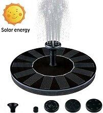 Fontaine de jardin à énergie solaire, pompe à