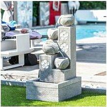 Fontaine de jardin cascade 4 coupes 90 cm 21106