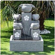 Fontaine de jardin cascade 5 coupes 90cm 21107