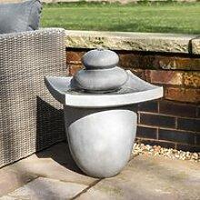 Fontaine de jardin d'extérieur zen éclairage