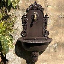 Fontaine de Jardin Fonte Murale Marron 75 cm x 44