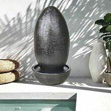 Fontaine de jardin forme uf 125 cm noire