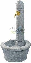 Fontaine de jardin robuste avec effet pierre