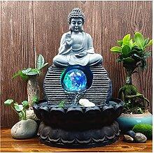 Fontaine de résine Faite à la Main Zen Moine