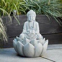Fontaine Décorative Bouddha pour Jardin avec LED