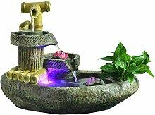 Fontaine eau ornement pierre moulin moulin de
