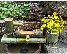 Fontaine en Bambou Décoration de Jardin Japonais