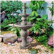Fontaine extérieur jardin 2 niveaux décoration
