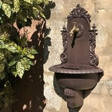 Fontaine Extérieur Jardin Murale Fonte Marron 75