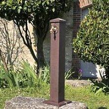 Fontaine Fonte Jardin Extérieur Marron 90 cm x 13