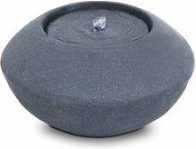 Fontaine incurvée  pierre naturelle gris