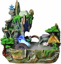 fontaine interieur Maison créative montagne eau