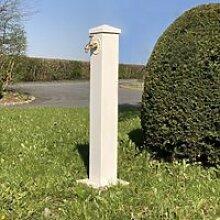 Fontaine Jardin Fonte Tube Extérieur Blanche 90