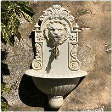 Fontaine murale jardin tête de lion robinet