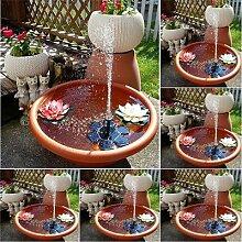 Fontaine solaire à pompe à eau, fontaine de