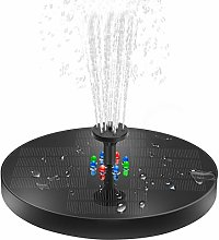 Fontaine solaire avec lumières LED - Pompe à eau